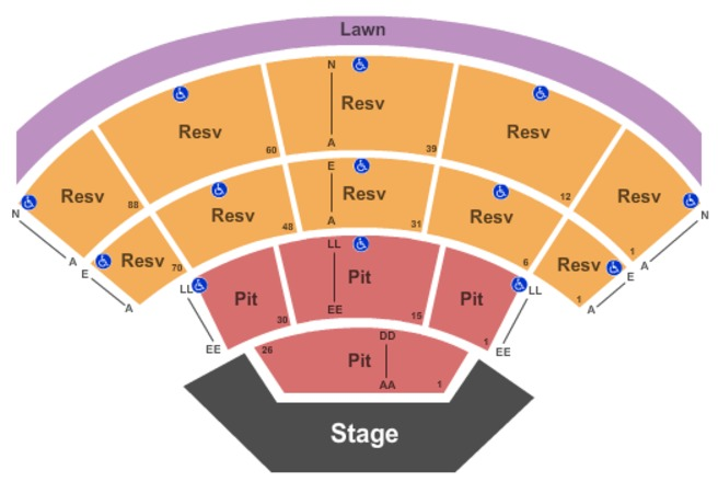 first security amphitheater seating chart